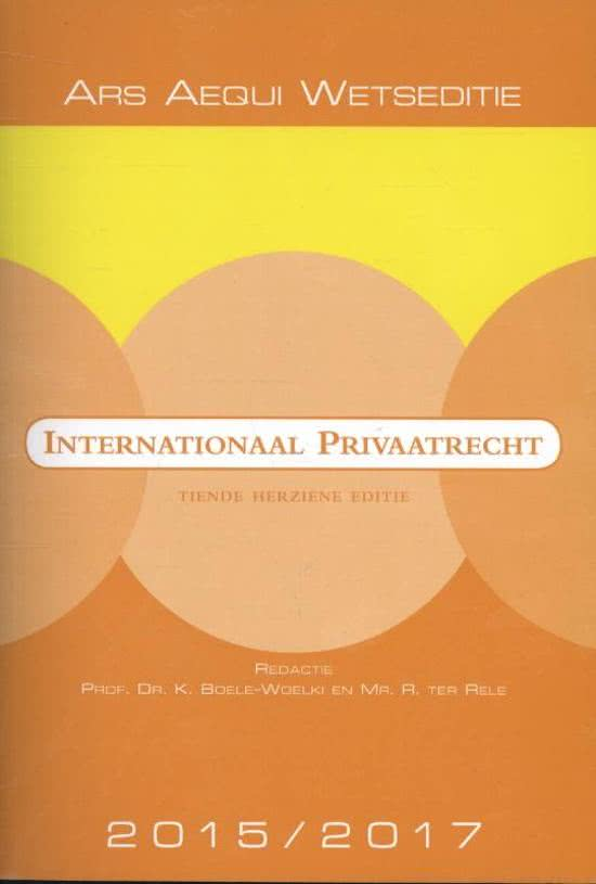 Internationaal privaatrecht 2015/2017