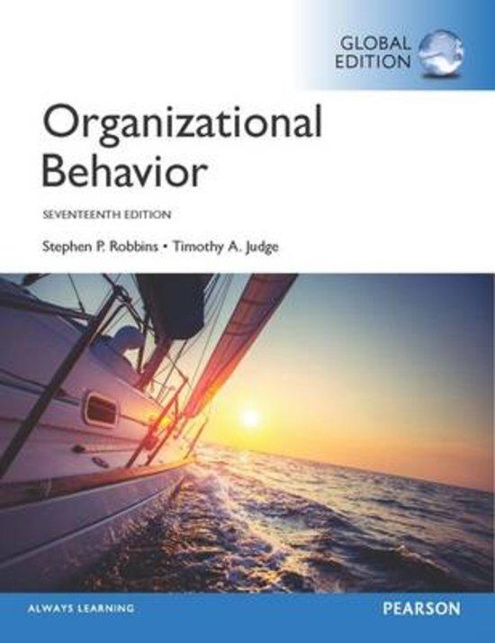 Notes Book Organizational Behavior Stephen P Robbins