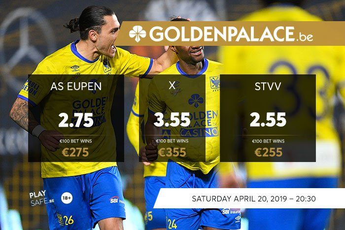 Bet with Golden Palace : PO2 KAS Eupen - STVV