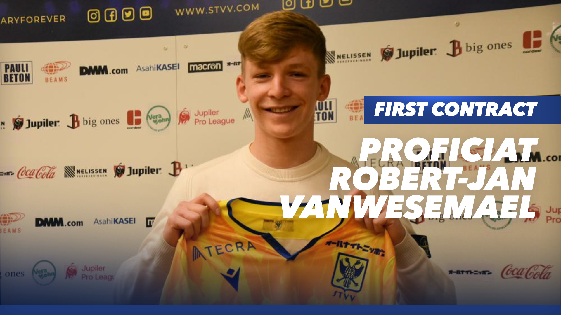 First professional contract for Vanwesemael
