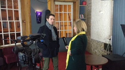 Featured image for news item 'Interview with Irish TV'