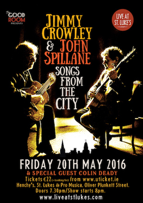Featured image for blog post 'SONGS FROM THE CITY - John Spillane BLOG - May 2016'