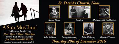 Featured image for news item 'A STÓR MO CHROÍ play at St. David's Church, Naas on Thursday December 29th. Tickets from www.collectivesounds.ie'