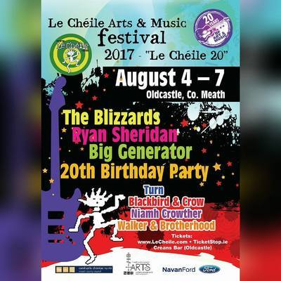 Featured image for news item 'The Blizzards Play Le Cheile Arts and Music Festival August 6th'