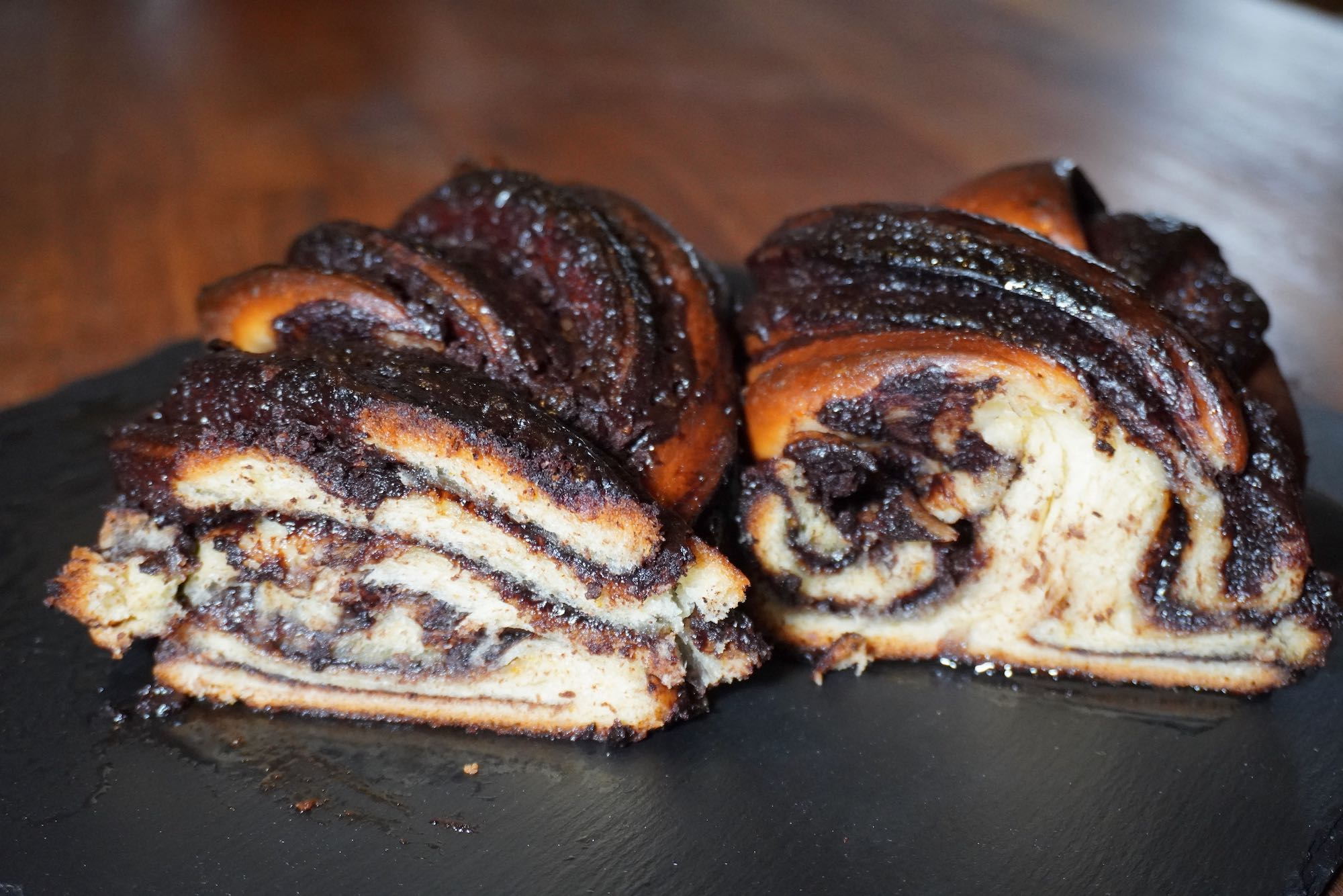 Easy Chocolate Babka Twist Bread with spelt flour