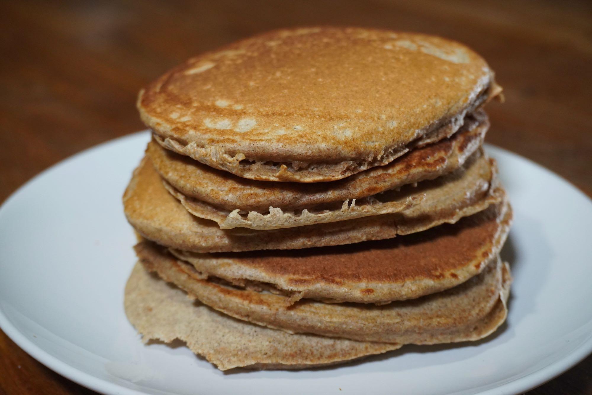 Fluffy Spelt Pancakes + Oat Milk