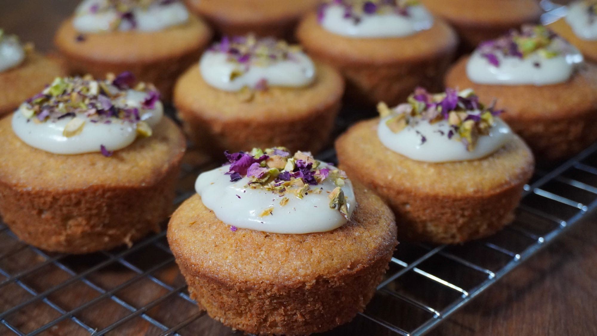 Spelt Persian Love Cupcakes