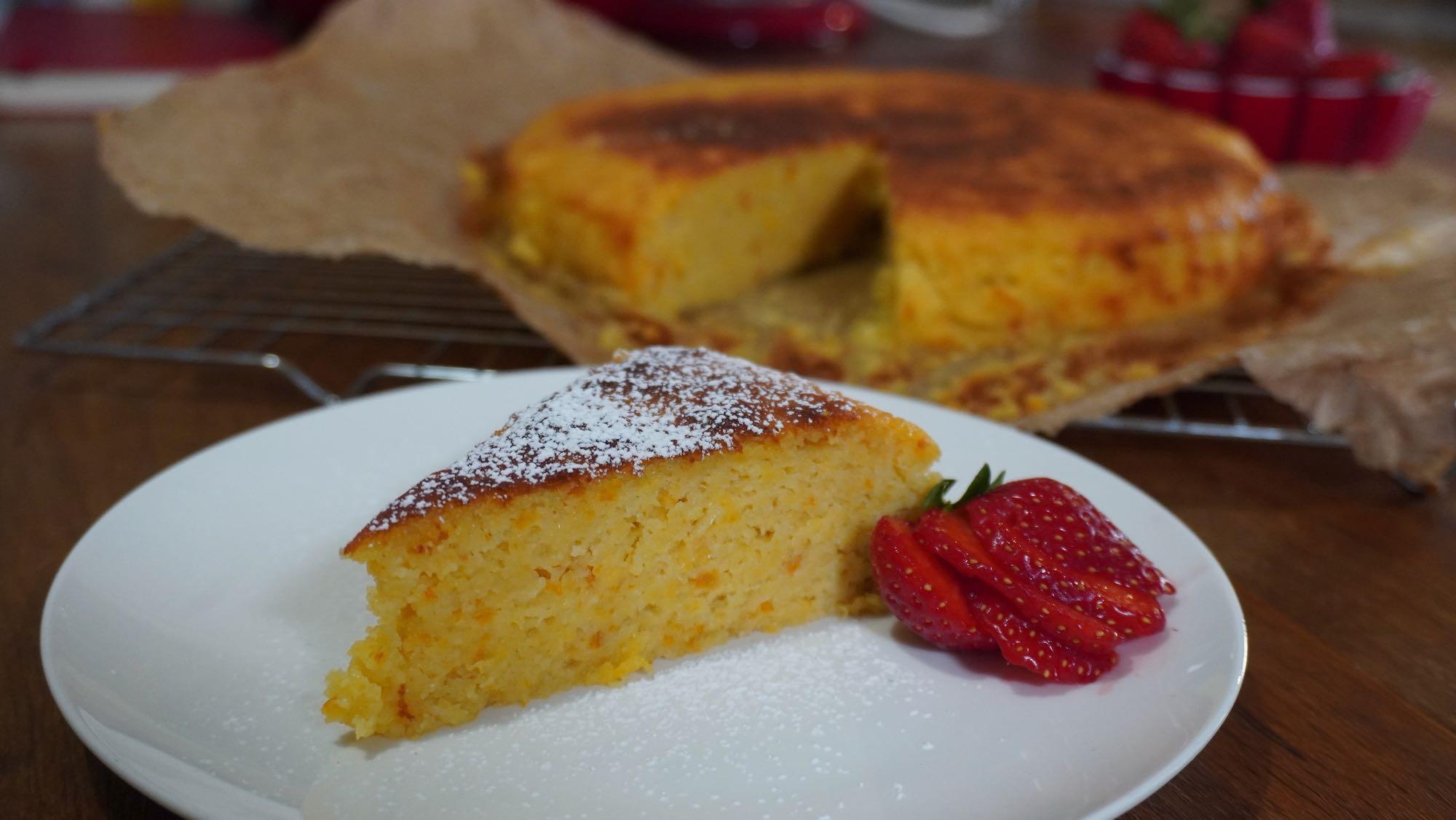 Flourless Orange & Almond Cake  Gluten Free – 5 ingredients