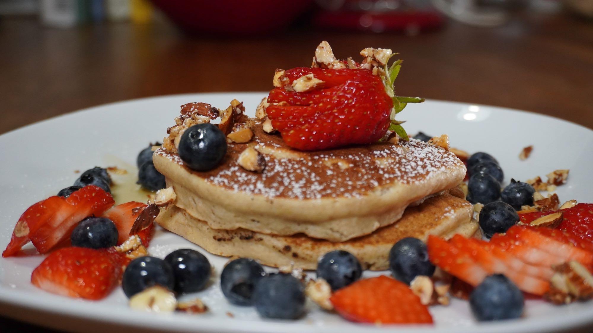 Fluffy Buckwheat Ricotta Pancakes