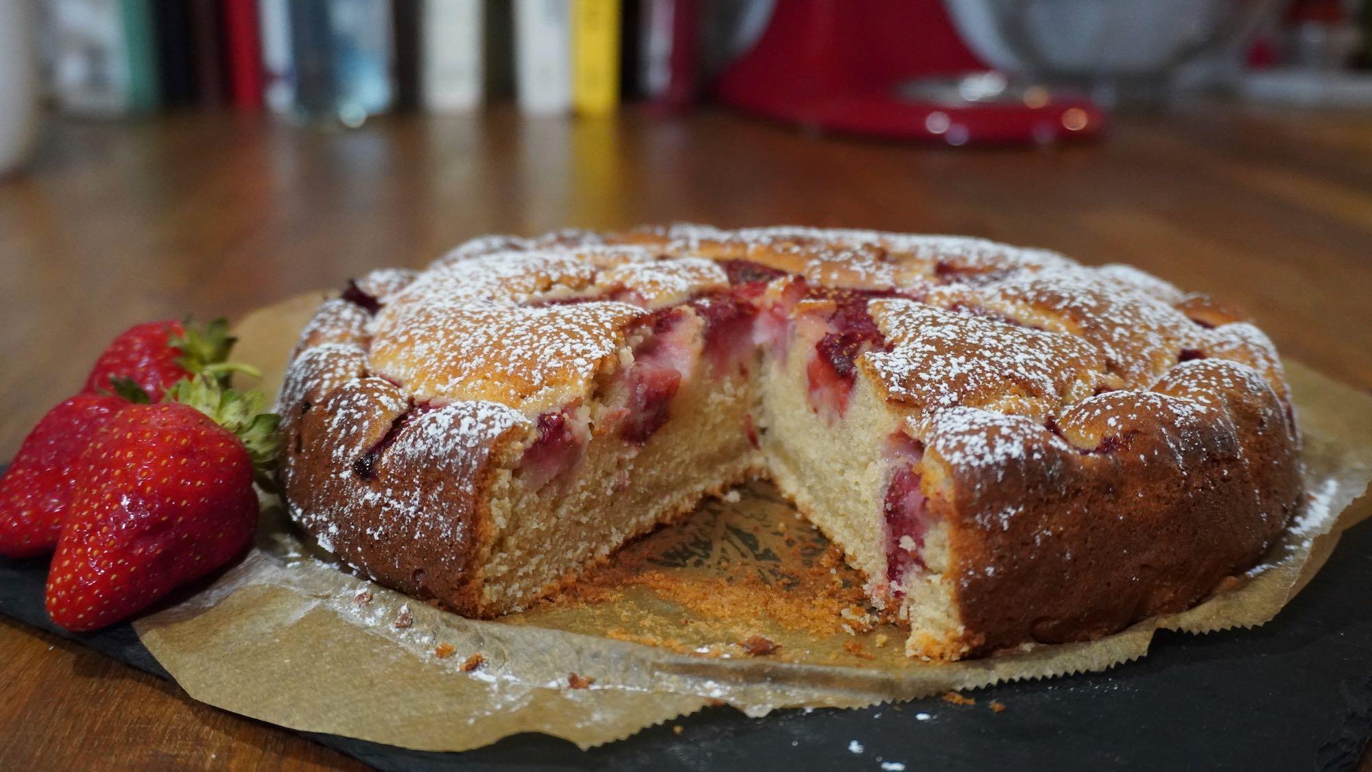 Strawberry Cake – Spelt Flour