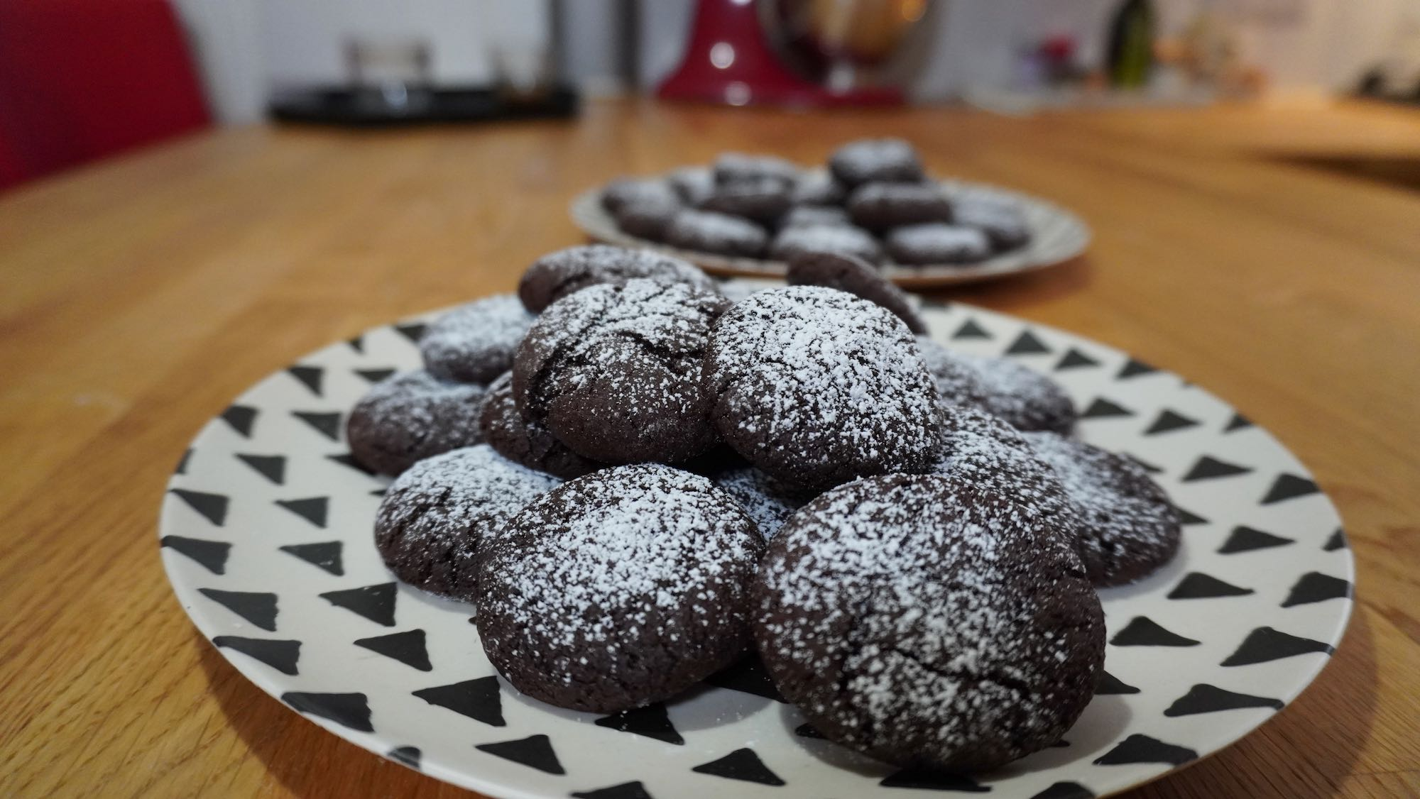 Spelt Chocolate Fudge Cookies