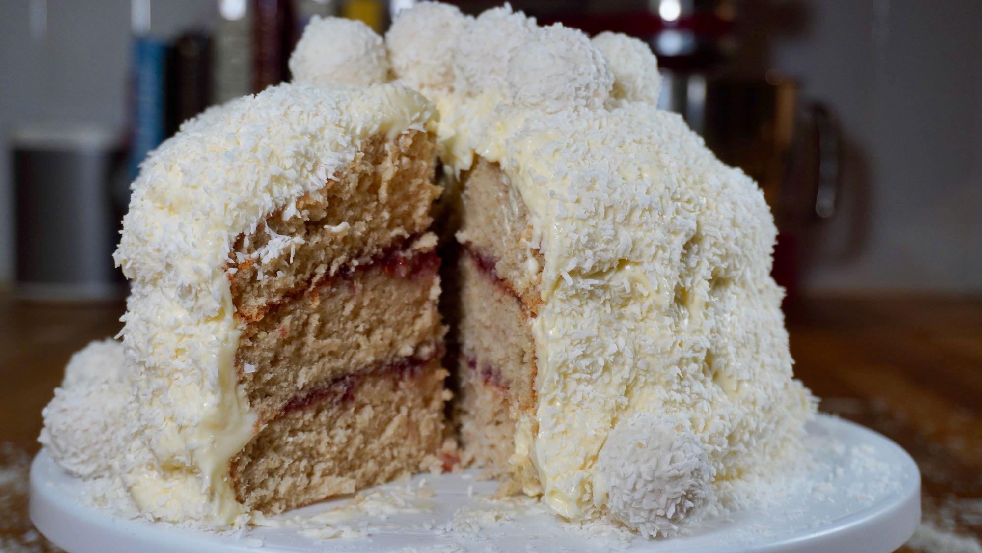 Moist Spelt Coconut Cake
