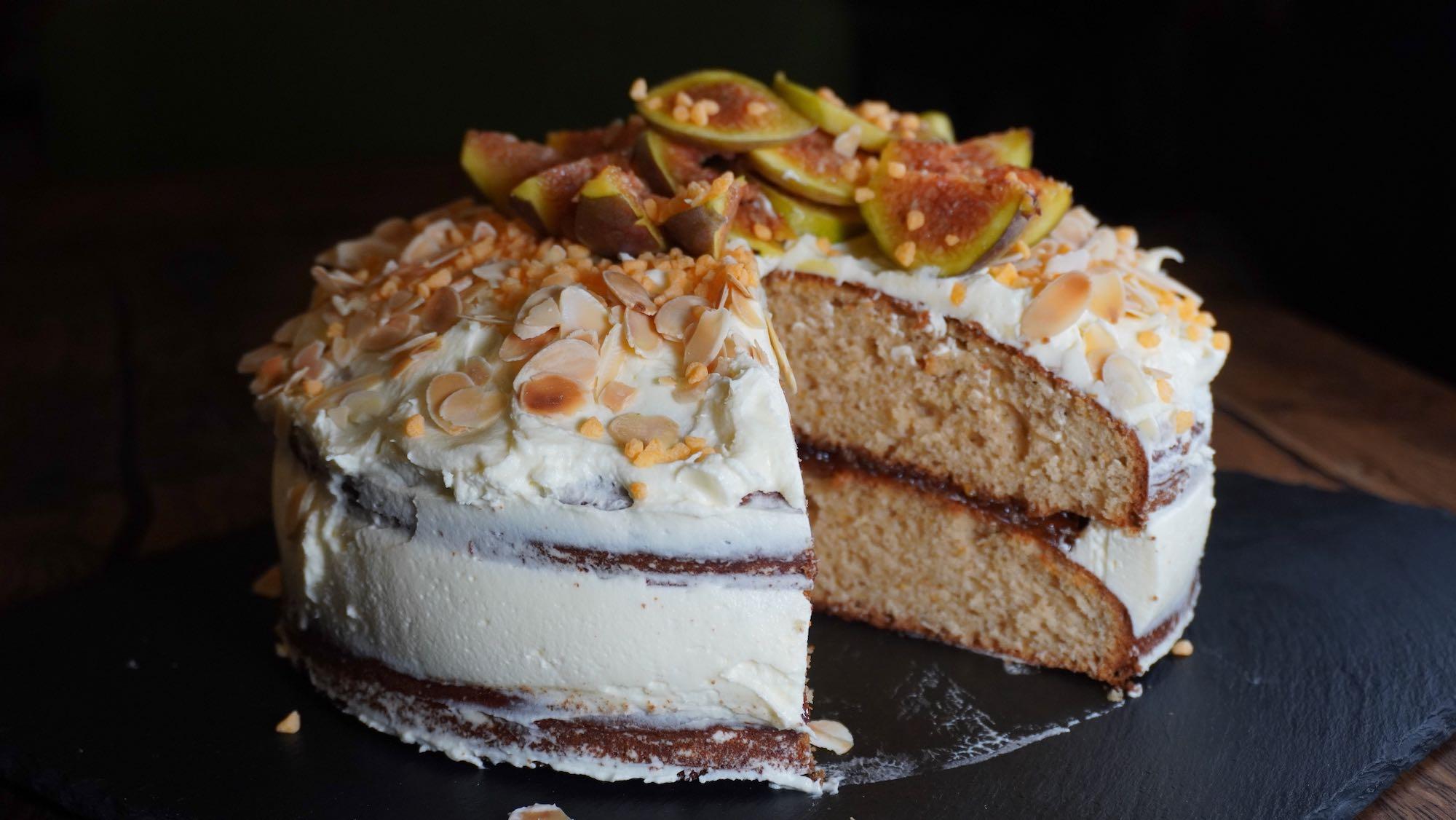 Moist Spelt Orange Layer Cake