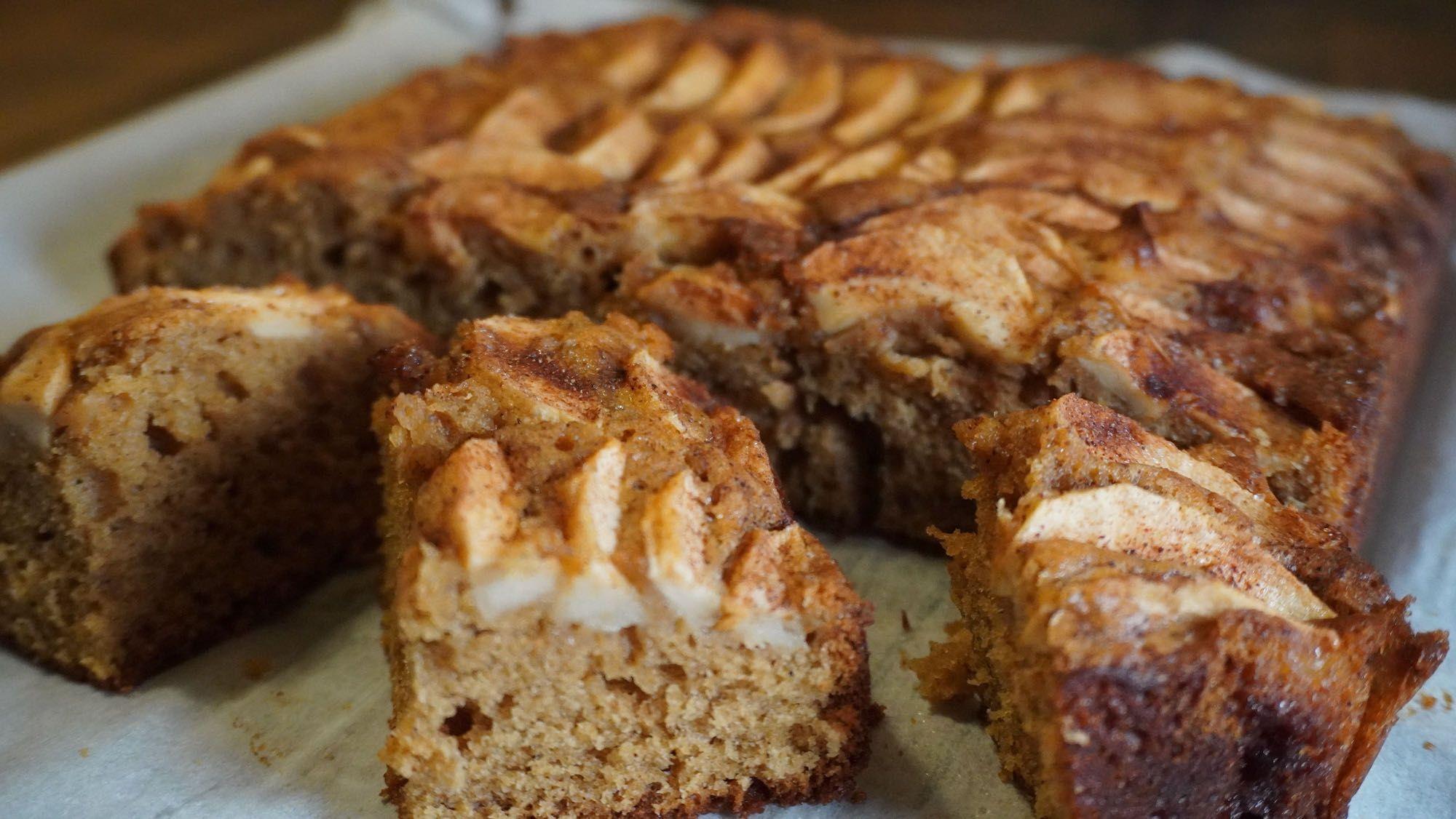 Moist Cinnamon Apple Cake + Spelt Flour
