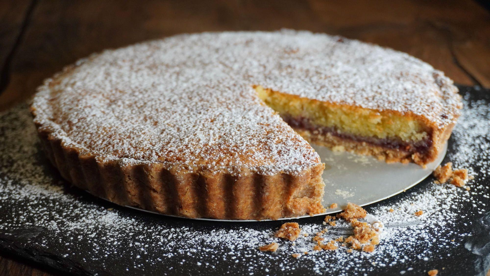 Bakewell Tart with Spelt shortcrust pastry base