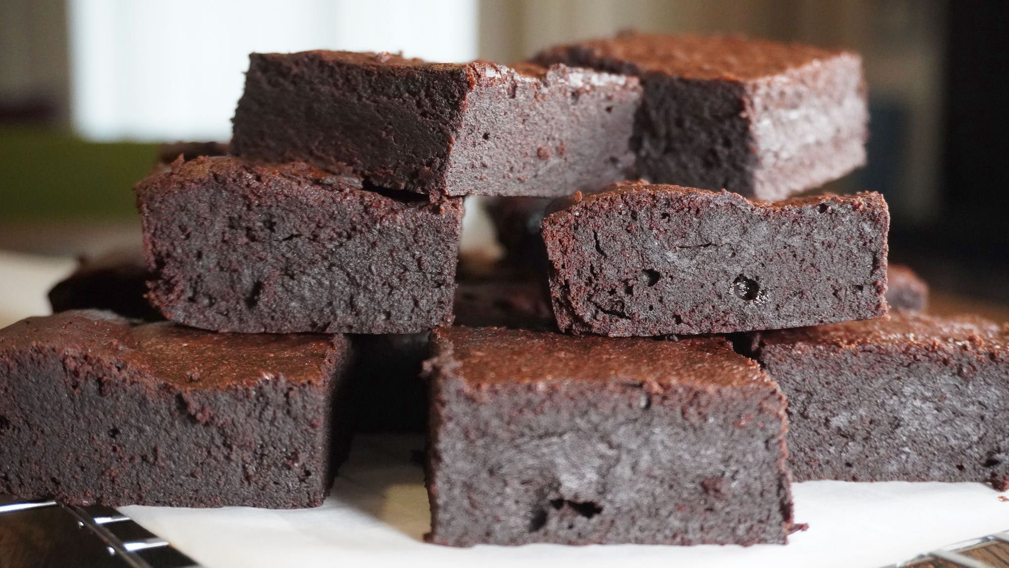 Rich Dark Chocolate Brownies with buckwheat