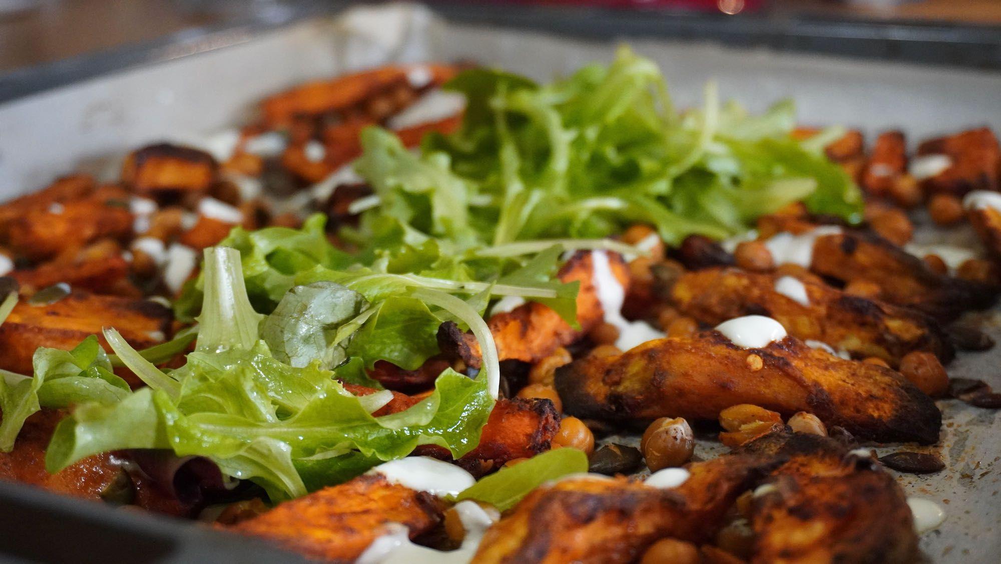 What's for Dinner? Sweet Potato Sheet Pan