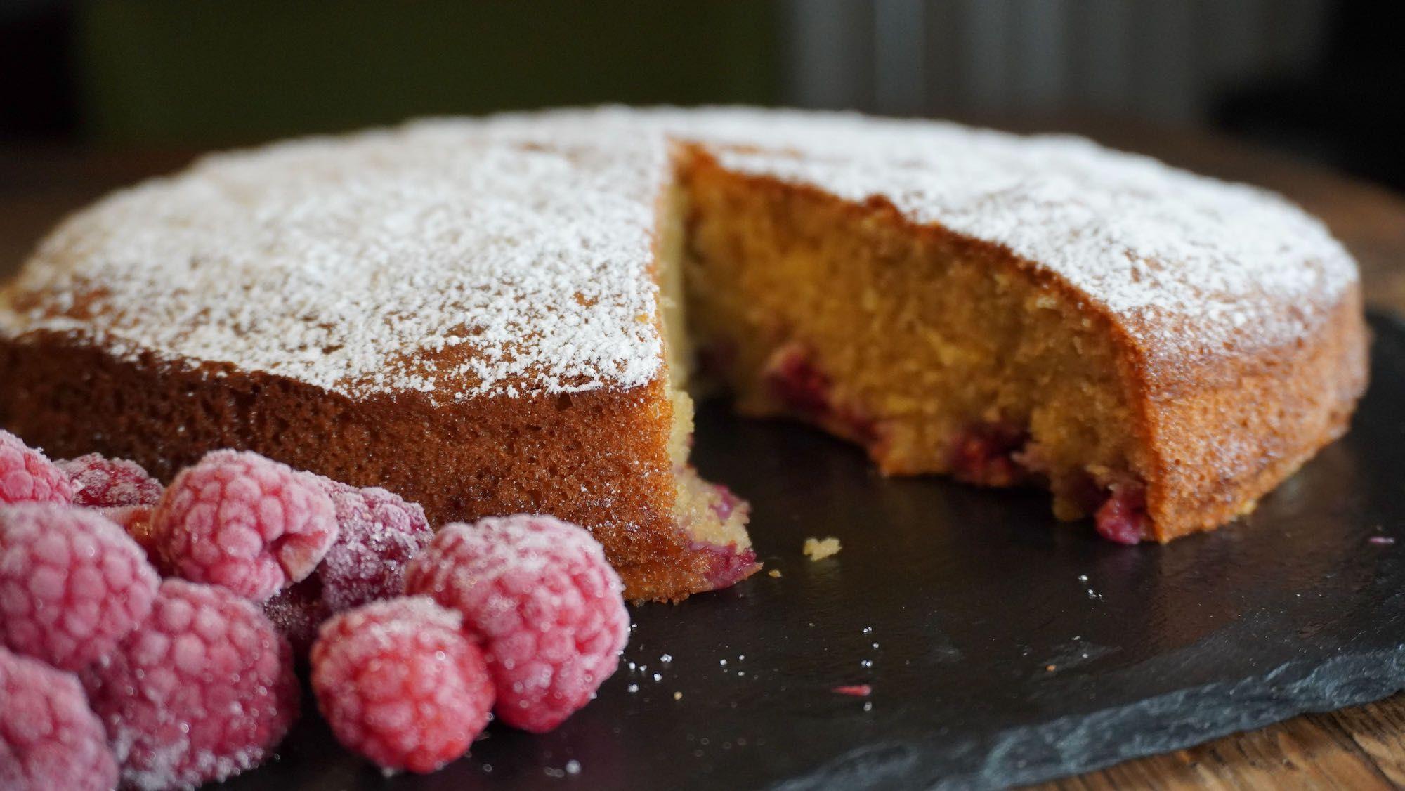 Spelt Raspberry Lemon Cake