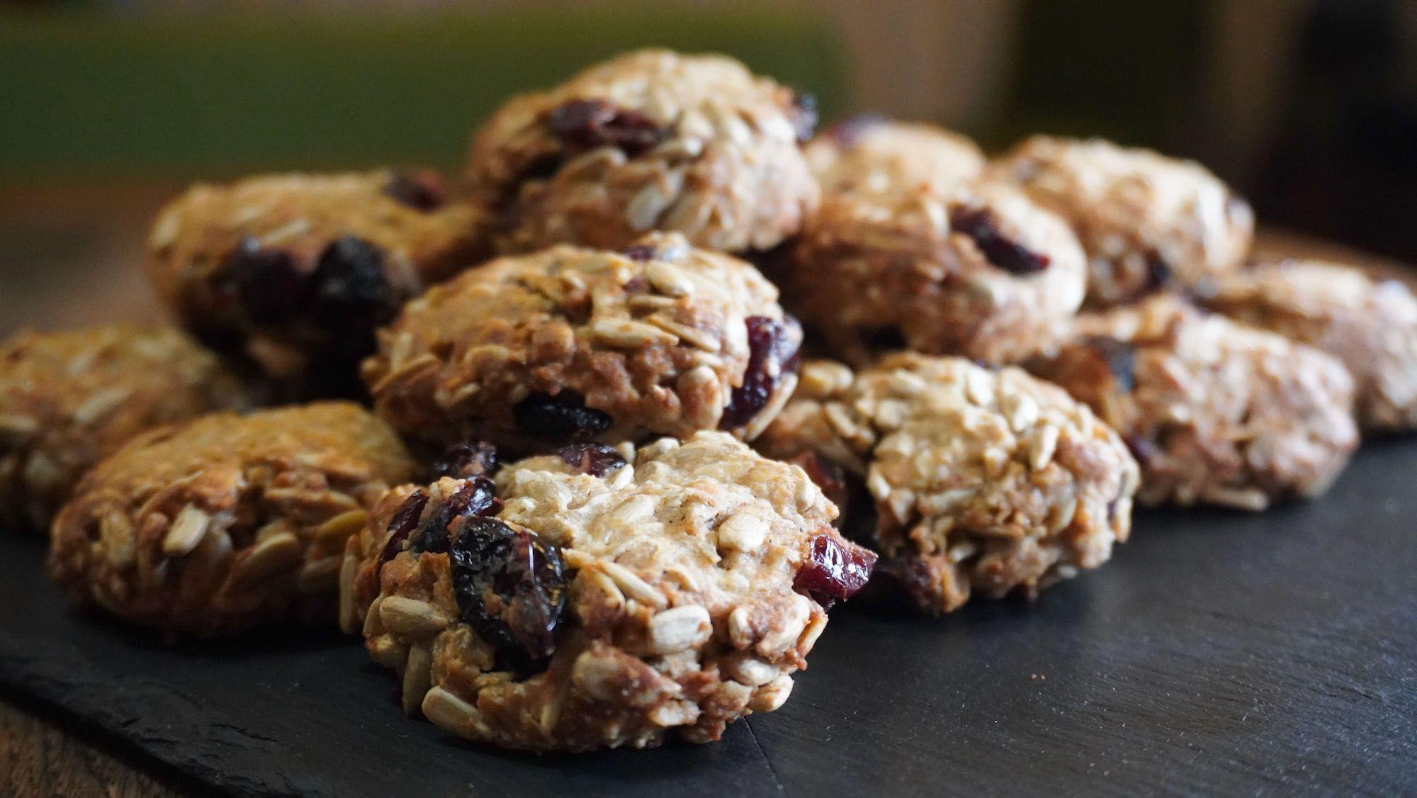 Spelt Sunflower Seed Fruit Cookies