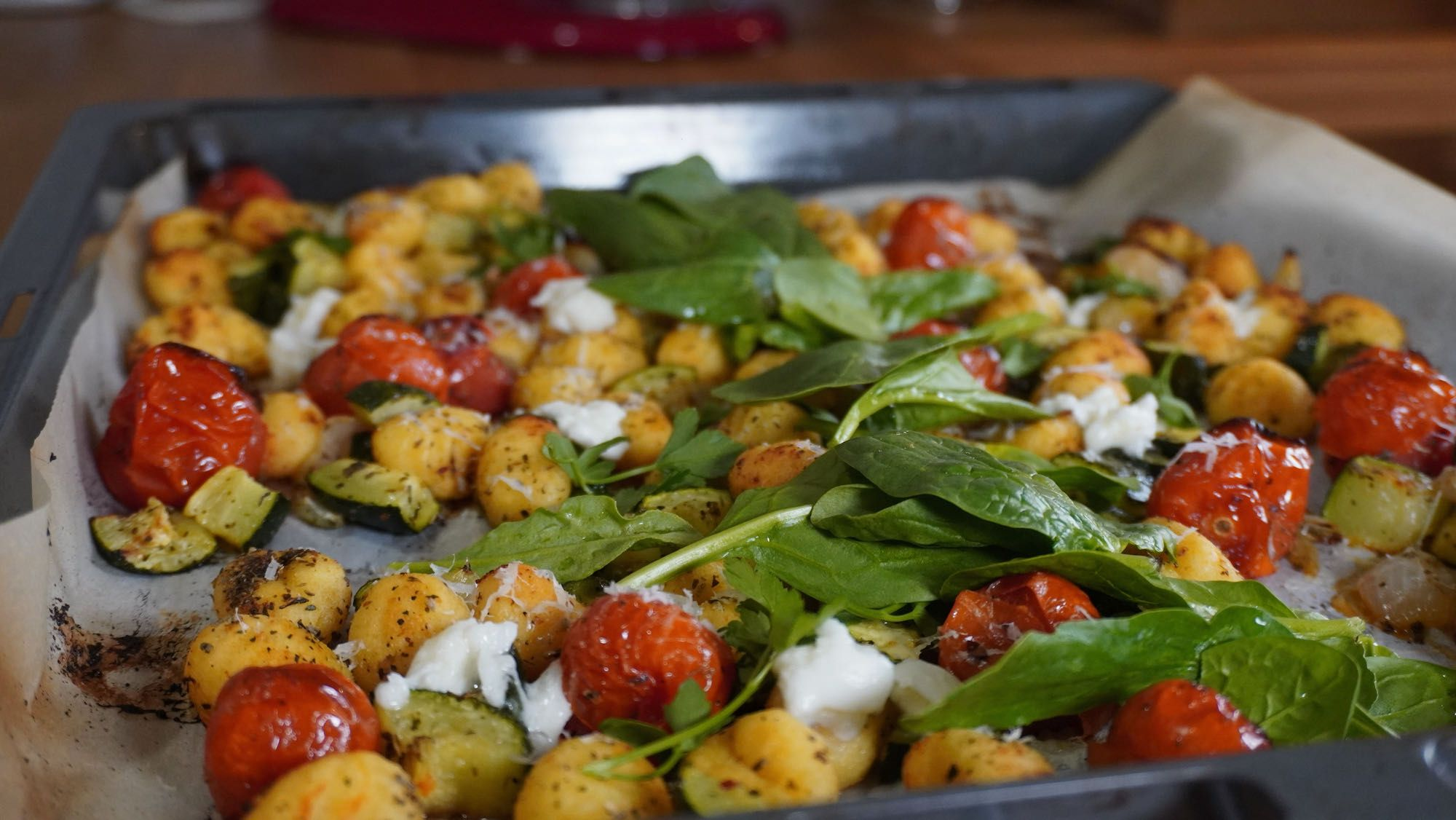 What's for Dinner? Roasted Gnocchi sheet pan