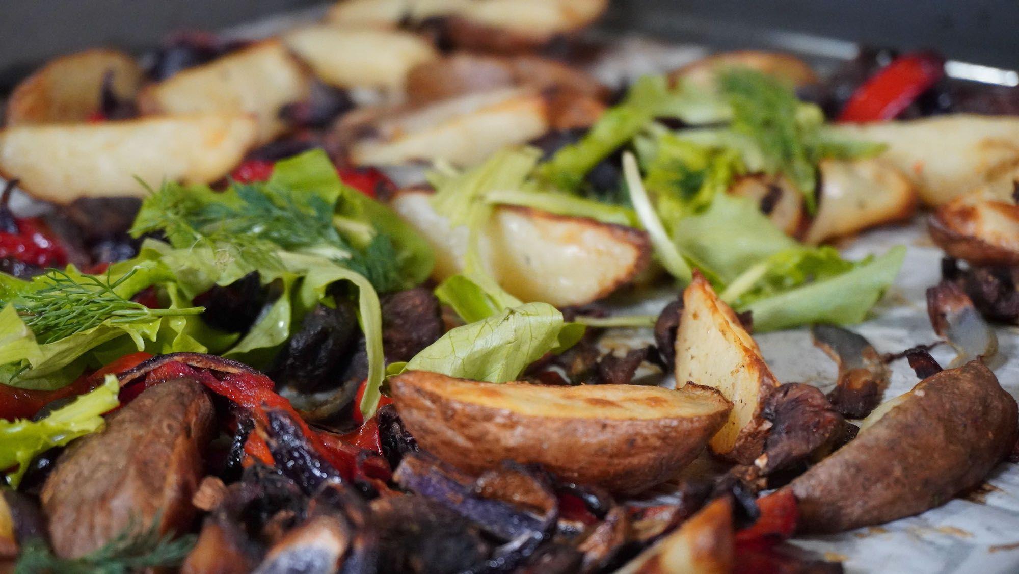 What's for Dinner? Potato & Veggies Sheet Pan