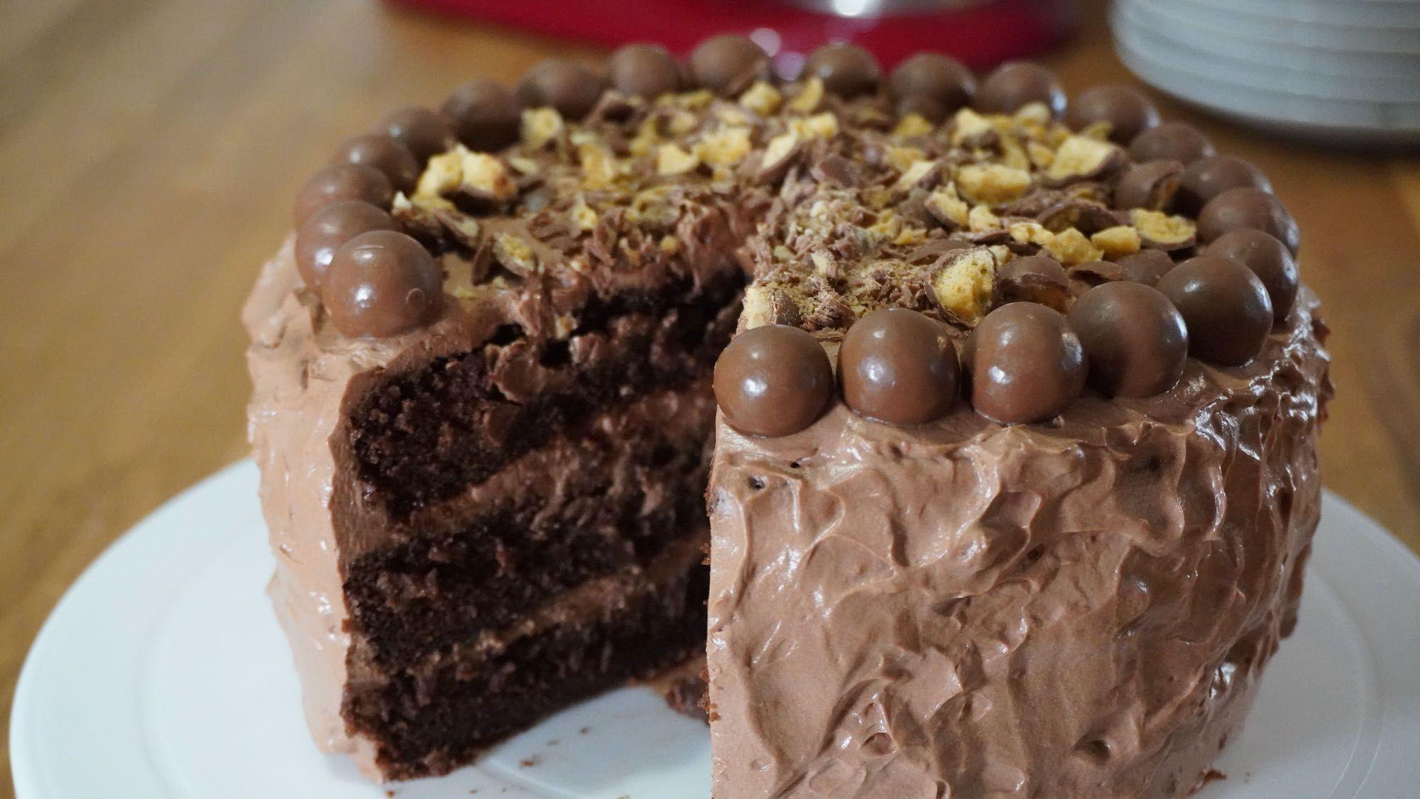 Fluffy Spelt Chocolate Layer Cake
