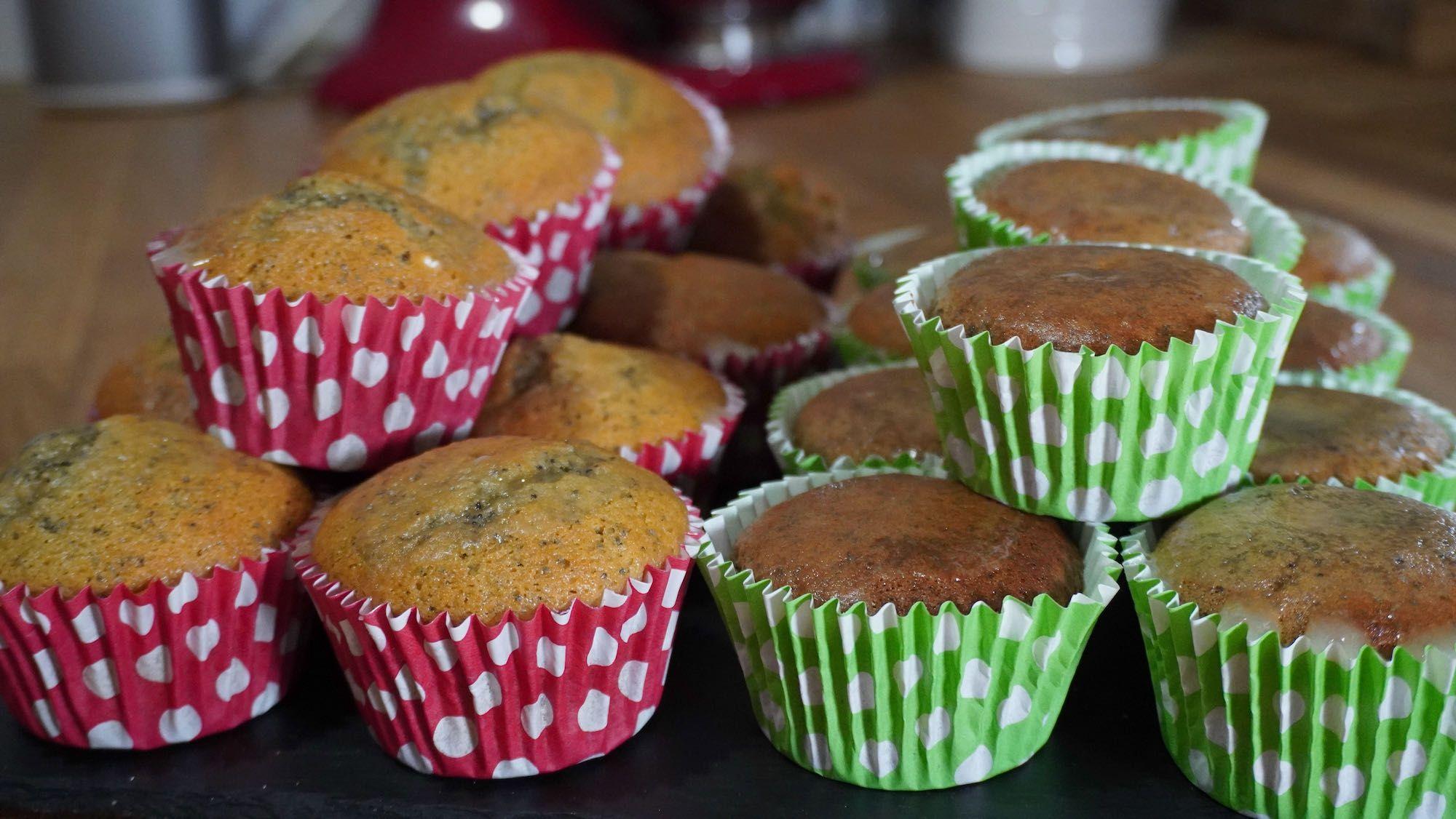 Lemon & Poppy Seed Muffins: 2 ways gluten-free vegan and spelt flour