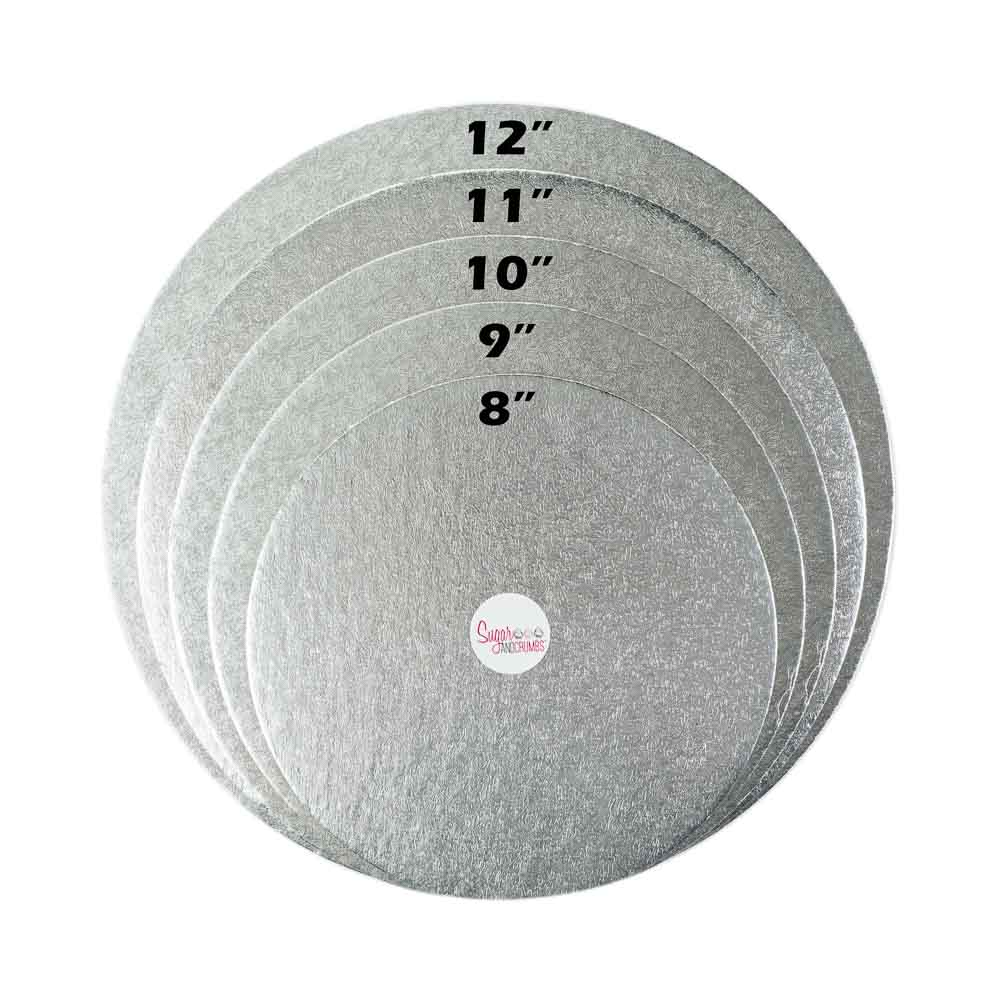 Round Cake Double Thick Card Silver 11 Inch Sugar
