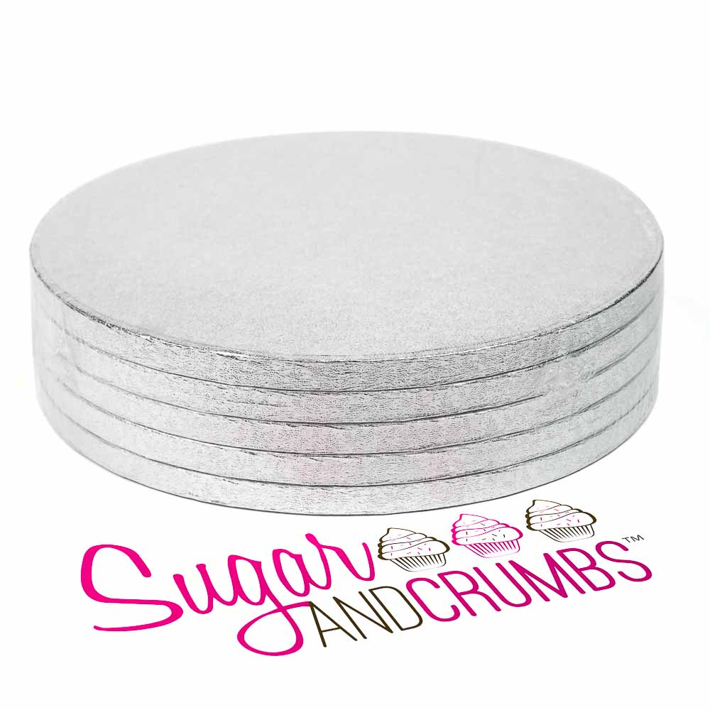 Round Cake Drum Silver 10 Inch Bulk Pack Of 5