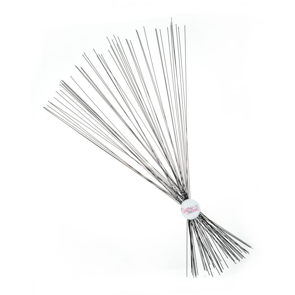 Floral Wire - Metallic Black 24 gauge - Pack of 50 - Sugar and Crumbs