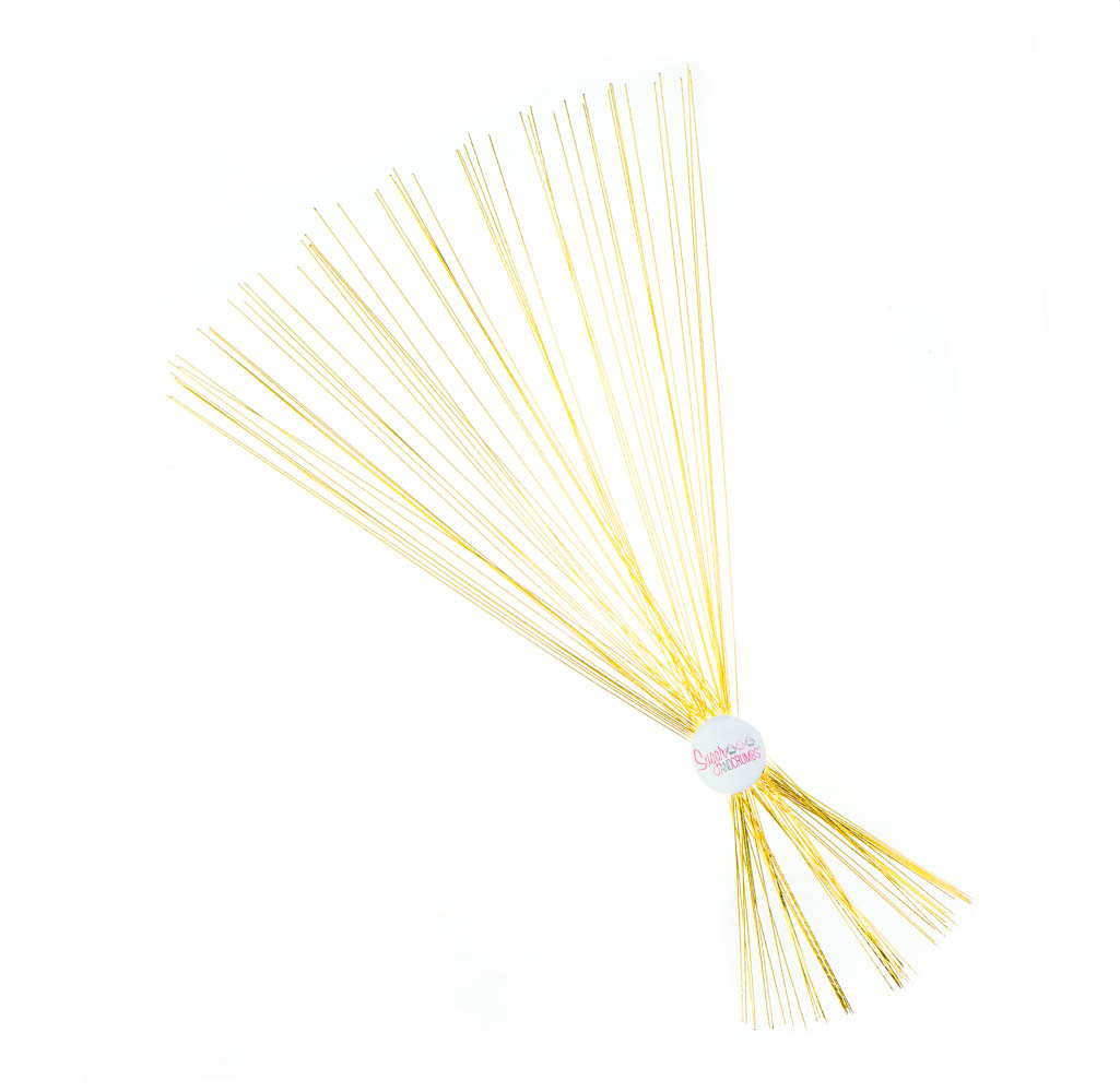 Florist Wire - Metallic Gold - 24 gauge - Pack of 50 - Sugar and Crumbs