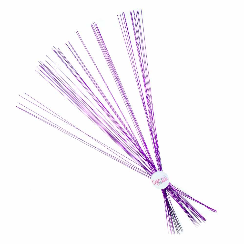 Florist Wire - Metallic Purple - 24 gauge - Pack of 50 - Sugar and ...