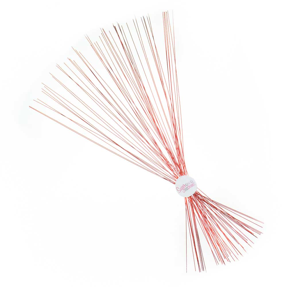 Florist Wire - Red - 24 gauge - Pack of 50 - Sugar and Crumbs