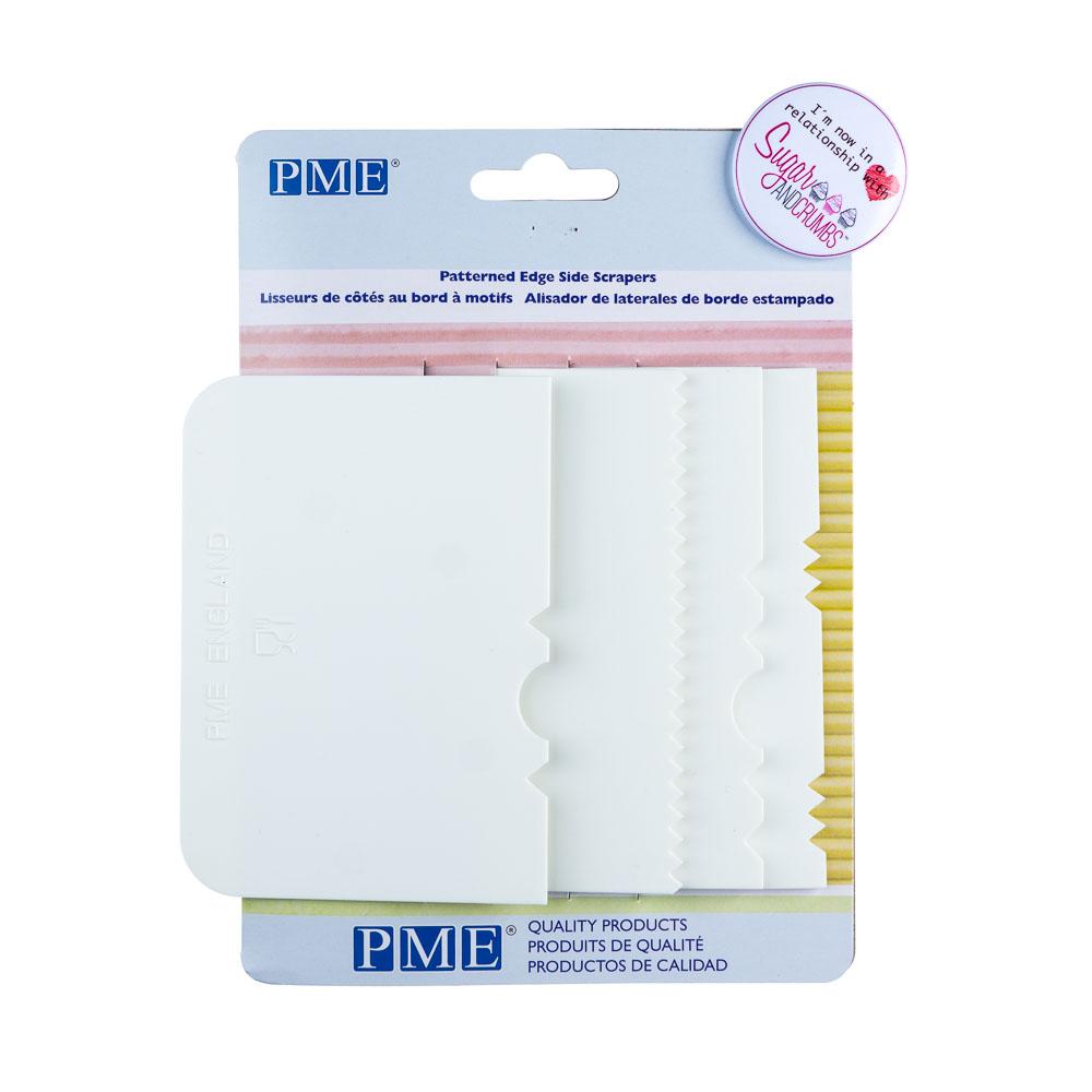 Cake Scrapers - Various Designs - White Plastic