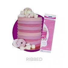 Ribbed - Tall Patterned Edge Cake Scraper - 11 inch