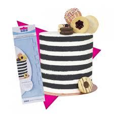 Stripes - Tall Patterned Edge Cake Scraper - 11inch - PME
