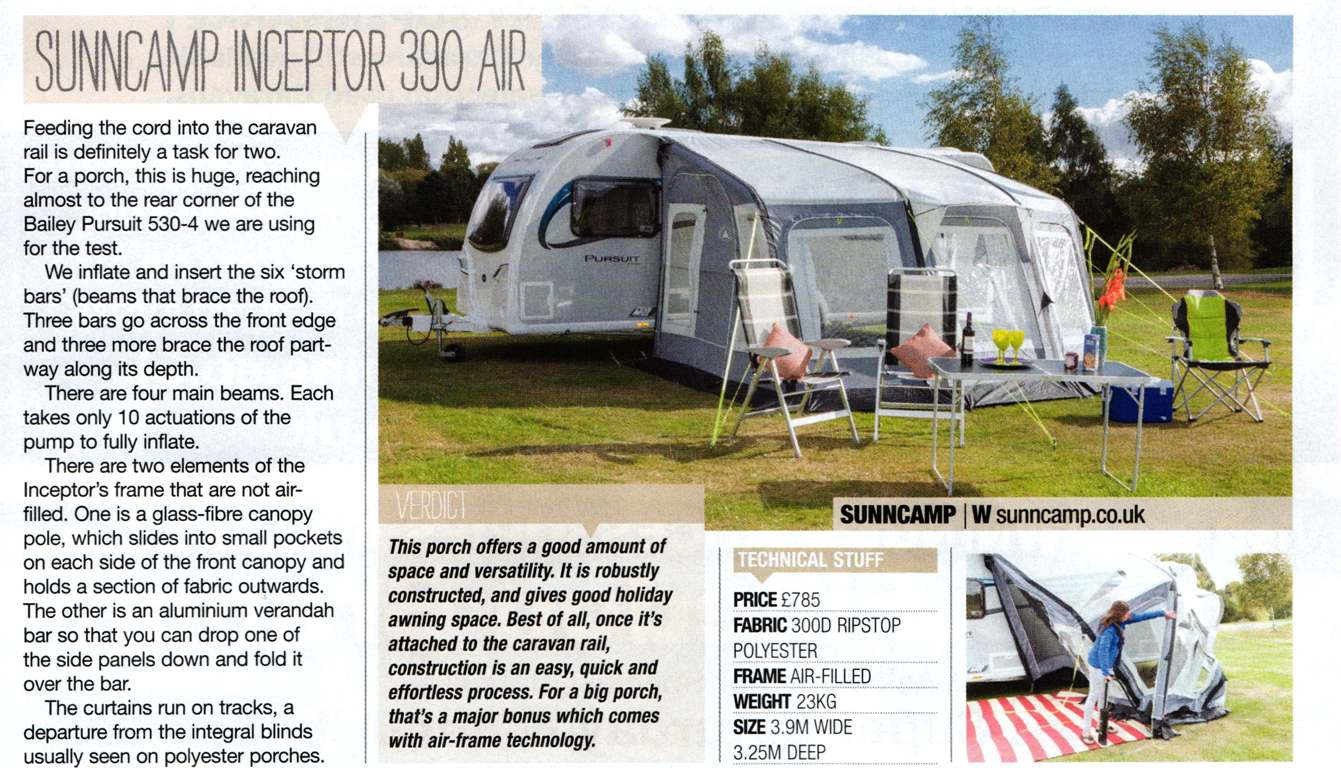 Caravan Magazine August 2015 issue - Swift 325 Air · C&ing Magazine Long Term Tent Test - July ... & Trade Reviews
