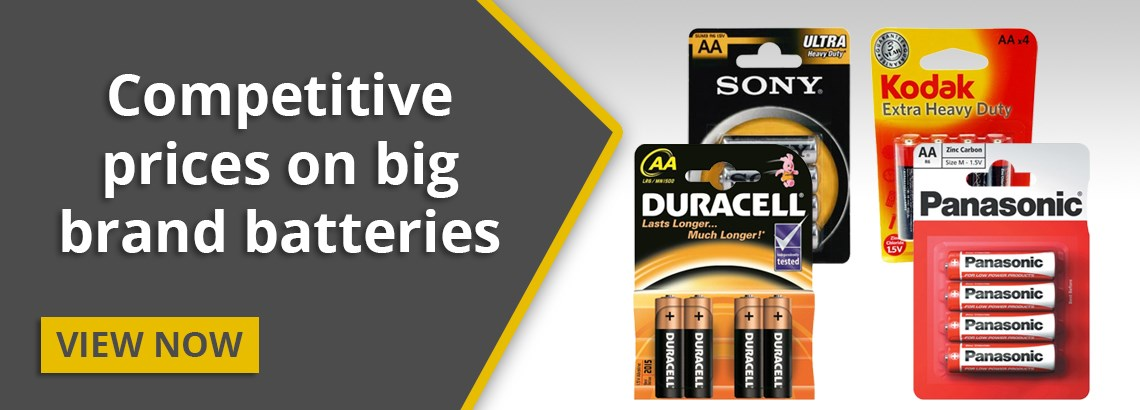 Competitive prices on big name batteries