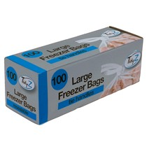 100 LARGE FREEZER BAG TIE HANDLES
