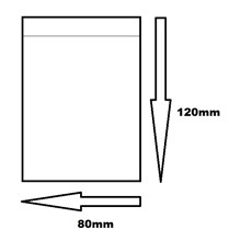120MM X 80MM CLEAR BAGS