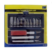 SWL - HOBBY KNIFE SET - 13 PACK