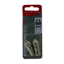 2 PCS  CO-AXIAL TV PLUGS
