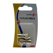 2 CO-AXIAL TV SOCKETS