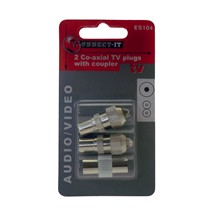 2  PCS CO-AXIAL PLUG WITH COUPLER KIT