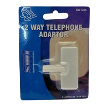 2 WAY TELEPHONE ADAPTOR