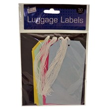 SWL - LUGGAGE LABELS 135 X 75MM - 30 PACK