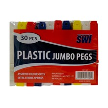 SWL - JUMBO CLOTHES PEGS BLOCK - 30 PACK