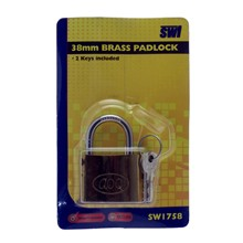 38MM BRASS PADLOCK SWL