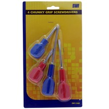 SWL - CHUNKY GRIP SCREWDRIVER - 4 PACK