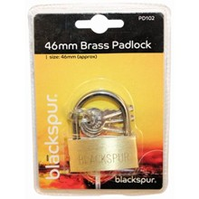 BLACKSPUR - BRASS PADLOCK 50MM